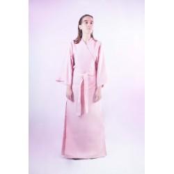 Kimono largo de loneta rosa