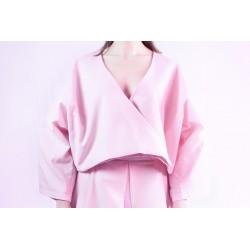 Blusa cruzada de loneta rosa