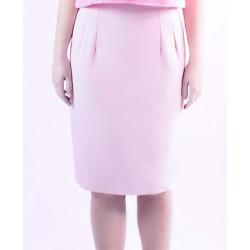 Falda lápiz de loneta rosa