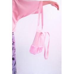 Bolso de loneta rosa con...