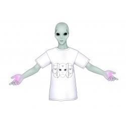 Camiseta blanca alien