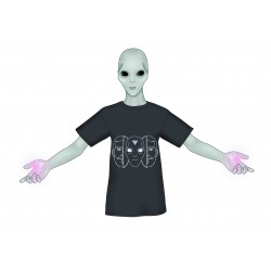Camiseta negra alien